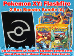 Pokemon XY02 Bundle (A) - Get x2 XY Flashfire Booster Box plus x1 Professor Pokeball Black Sleeves ** Ships 05/07 on Ideal808