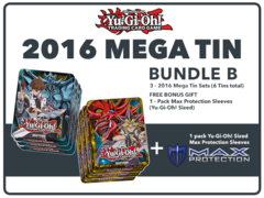 Yugioh 2016 Mega-Tin Bundle (B) - Get x6 2016 Mega-Tins (3 of Each) + Free Bonus Item (See Description) * Pre-Order Ships Sep.2