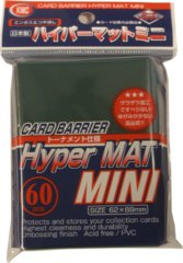 KMC Card Barrier Hyper Mat (60ct) Small Sleeves - Green