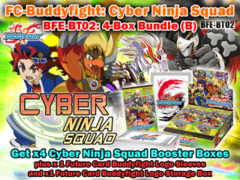 FC-Buddyfight BT02 Bundle (B) - Get x4 Cyber Ninja Squad Booster Box + BFE Logo Sleeves & Storage Box