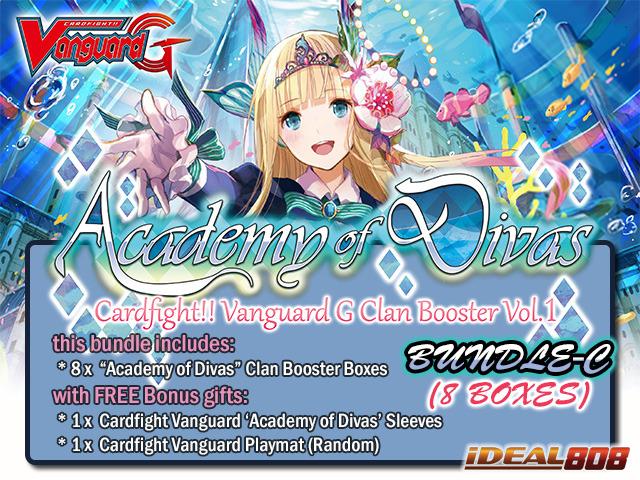 Cardfight Vanguard G-CB01 Bundle (C) - Get x8 Academy of Divas Clan Booster Box + FREE Bonuses