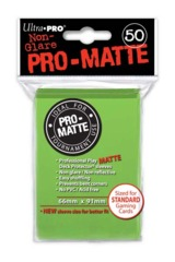 Ultra Pro Matte Non-Glare Large Sleeves 50ct. - Lime Green (#84190)