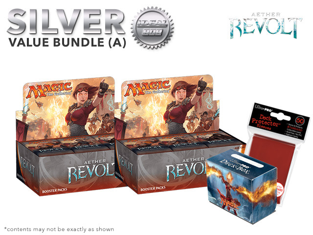 MTGAER Bundle (A) Silver - Get x2 Aether Revolt Booster Box + FREE Bonus Items