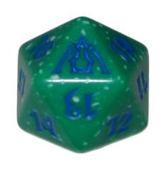 MTG Spindown 20 Life Counter - Dragon's Maze (Simic - Green/Blue)