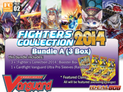 Cardfight Vanguard FC02 Bundle (A) - Get x3 Fighters Collection 2014 Booster Box + FREE Bonus (Sleeves) on Ideal808