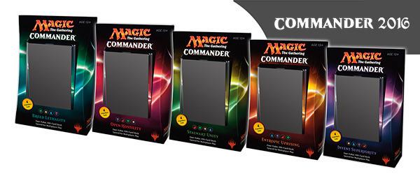 Commander 2016 (C16) Decks - Complete Set of 5 * PRE-ORDER Ships Nov.11