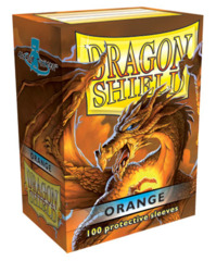 Dragon Shield Standard-size (100ct) Sleeves - Orange