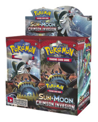 SM Sun & Moon - Crimson Invasion (SM04) Pokemon Booster Box * PRE-ORDER Ships Nov.03