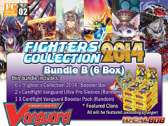 Cardfight Vanguard FC02 Bundle (B) - Get x6 Fighters Collection 2014 Booster Box + FREE Bonus (Pack & Sleeves) on Ideal808