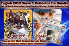 Yugioh CT09 Wave 1 Bundle - Get x6 Heroic Champion Excalibur & x6 Evolzar Dolkka Evolzar Dolkka Tins plus a pair of Black ZeXal