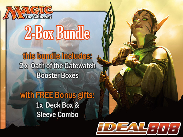 MTGOGW Bundle (A) - Get x2 Oath of the Gatewatch Booster Box + FREE Bonus Items