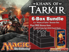 Magic KTK Bundle (C) - Get x6 Khans of Tarkir Booster Box + FREE Bonus (Event Deck) on Ideal808