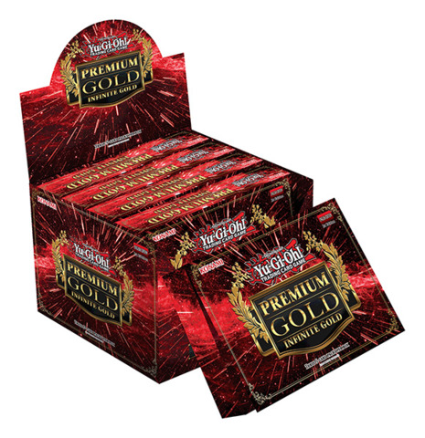Yugioh Premium Gold: Infinite Gold Display Box (Contains 5 Boxes with 3 mini-packs)