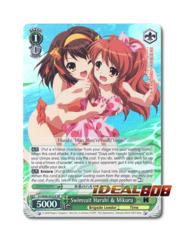 Swimsuit Haruhi & Mikuru [SY/W08-E032S SR (FOIL)] English