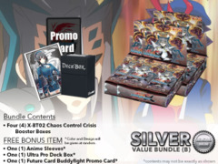 FC-Buddyfight X-BT02 Bundle (B) Silver - Get x4 Chaos Control Crisis Booster Box + FREE Bonus Items