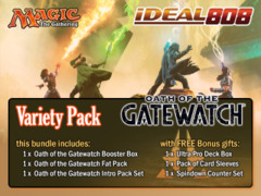 MTGOGW Variety Pack - Get x1 Oath of the Gatewatch Booster Box; x1 Fat Pack; & x1 Intro Pack Set + FREE Bonus Items