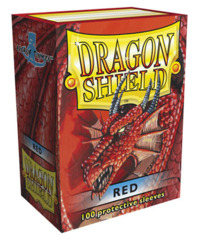 Dragon Shield Standard-size (100ct) Sleeves - Red