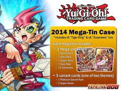 Yugioh 2014 Mega-Tin Case - Six (6) Bujintei Susanowo & Six (6) Bro Fire Fist - Tiger King on Ideal808