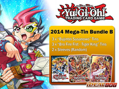 Yugioh 2014 Mega-Tin Bundle (B) - Get x3 Susanowo & x3 Fire Fist - Tiger King Tins + FREE Bonus (Sleeves)