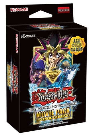 Yugioh The Dark Side of Dimensions Movie Pack Gold Edition Booster Pack (Contains 5 cards)