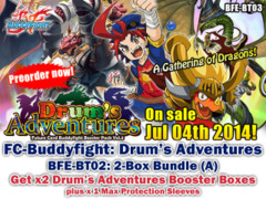 FC-Buddyfight BT03 Bundle (A) - Get x2 Drum's Adventure Booster Box + FREE Bonus (Sleeves)