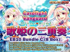 Cardfight Vanguard EB10 Bundle (C) - Get x8 Divas Duet Extra Booster Box + FREE Bonus (Promo, Sleeves, & Playmat) on Ideal808