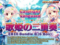 Cardfight Vanguard EB10 Bundle (B) - Get x6 Divas Duet Extra Booster Box + FREE Bonus (Promo, Sleeves, & Packs) on Ideal808