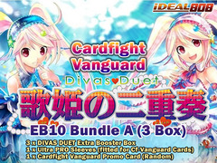 Cardfight Vanguard EB10 Bundle (A) - Get x3 Divas Duet Extra Booster Box + FREE Bonus (Promo & Sleeves) on Ideal808