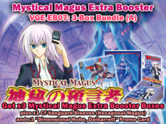 Cardfight Vanguard EB07 Bundle (A) - Get x3 Mystical Magus Extra Booster Box + Cf-Vanguard Sleeves & More on Ideal808