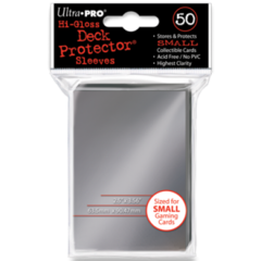 Ultra Pro Hi-Gloss Small Sleeves 50ct. - Silver on Ideal808