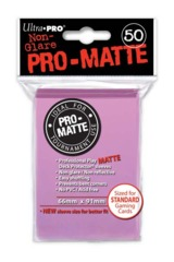 Ultra Pro Matte Non-Glare Large Sleeves 50ct. - Pink (#84185)