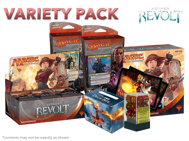 MTGAER Variety Pack - Get x1 Aether Revolt Booster Box; x1 Bundle; & 1 Planeswalker Deck Set + FREE Bonus Items