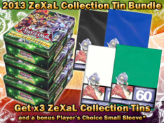 Yugioh PRC2 Bundle - Get x3 2013 Zexal Collection Tins, x1 Player's Choice Sleeve on Ideal808
