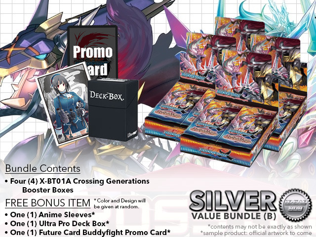 FC-Buddyfight X-BT01A Bundle (B) Silver - Get x4 Crossing Generations Booster Box + FREE Bonus Items