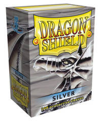 Dragon Shield Standard-size (100ct) Sleeves - Silver