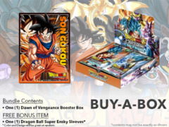 Dragon Ball Super CCG B01 Dawn of Vengeance Buy-A-Box - Get x1 Dragon Ball Super Booster Box + BONUSDragon Ball Super CCG DBS-B0