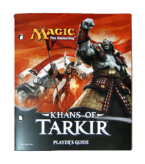 Magic the Gathering Player's Guide w/Checklist - Khans of Tarkir