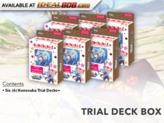 Konosuba (English) Weiss Schwarz Trial Deck+ (Plus) Box [Contains 6 Decks] * PRE-ORDER Ships Aug.25