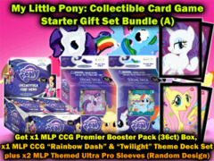 EnterPlay My Little Pony CCG Bundle (A) - Get x1 Premier Booster Box, x1 Premier Theme Deck Set + Bonus x2 MLP Sleeves on Ideal808