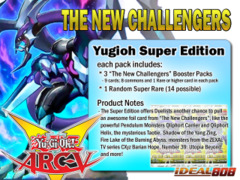 Yugioh The New Challengers Super Edition Pack ** Pre-Order Ships December 5, 2014 on Ideal808