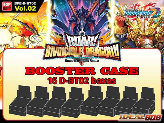 BFE-D-BT02 Roar! Invincible Dragon!! (English) Future Card Buddyfight Booster  Case (16 Boxes)