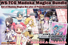 Weiss Schwarz Bundle - Get x4 Madoka Magica Booster Boxes plus x2 Queen's Blade Sleeve & Promo Playmat on Ideal808