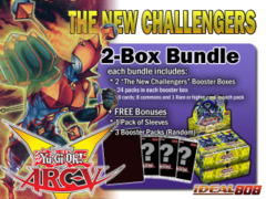 Yugioh NECH Bundle (A) - Get x2 The New Challengers Booster Boxes + FREE Bonus (Sleeves & Booster Packs) ** Ships 11/07 on Ideal808