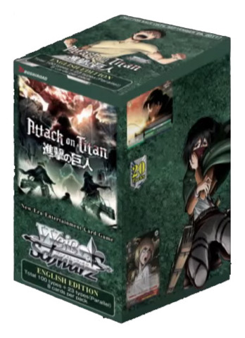 Attack on Titan Vol.2 (English) Weiss Schwarz Booster Box * PRE-ORDER Ships Sep.29