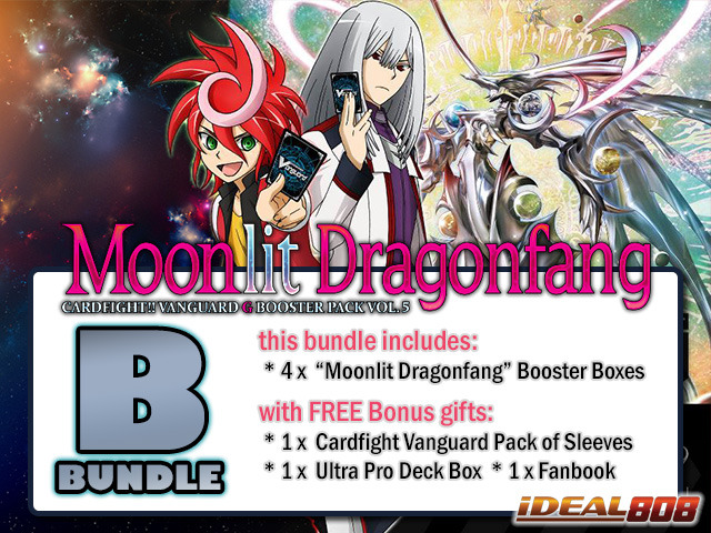 Cardfight Vanguard G-BT05 Bundle (B) - Get x4 Moonlit Dragonfang Booster Box + FREE Bonuses + Bundle Treasure