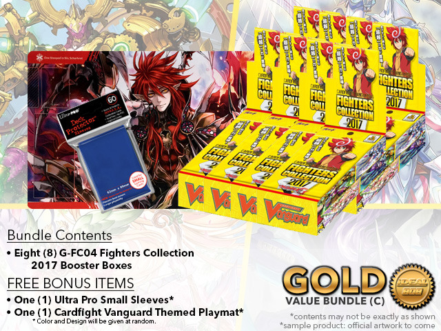 Cardfight Vanguard G-FC04 Bundle (C) Gold - Get x8 Fighters Collection 2017 Booster Box + FREE Bonus Items