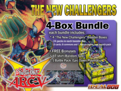 Yugioh NECH Bundle (B) - Get x4 The New Challengers Booster Boxes + FREE Bonus (T-Shirt & Playmat) ** Ships 11/07 on Ideal808