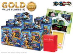 Pokemon XY12 Bundle (B) Gold - Get x4 XY Evolutions Booster Box + FREE Bonus Items