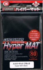 KMC Card Barrier Hyper Mat (80ct) Large Sleeves - Black