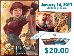 [EVENT TICKET] ToyLynx - Dole Cannery - Aether Revolt Prerelease<br 15>[January 14, 2017 at 3:30 pm] <br> * Limit 1 per *